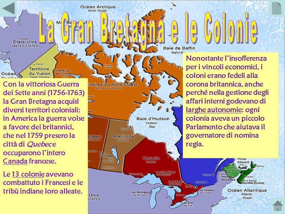 La Gran Bretagna e le Colonie