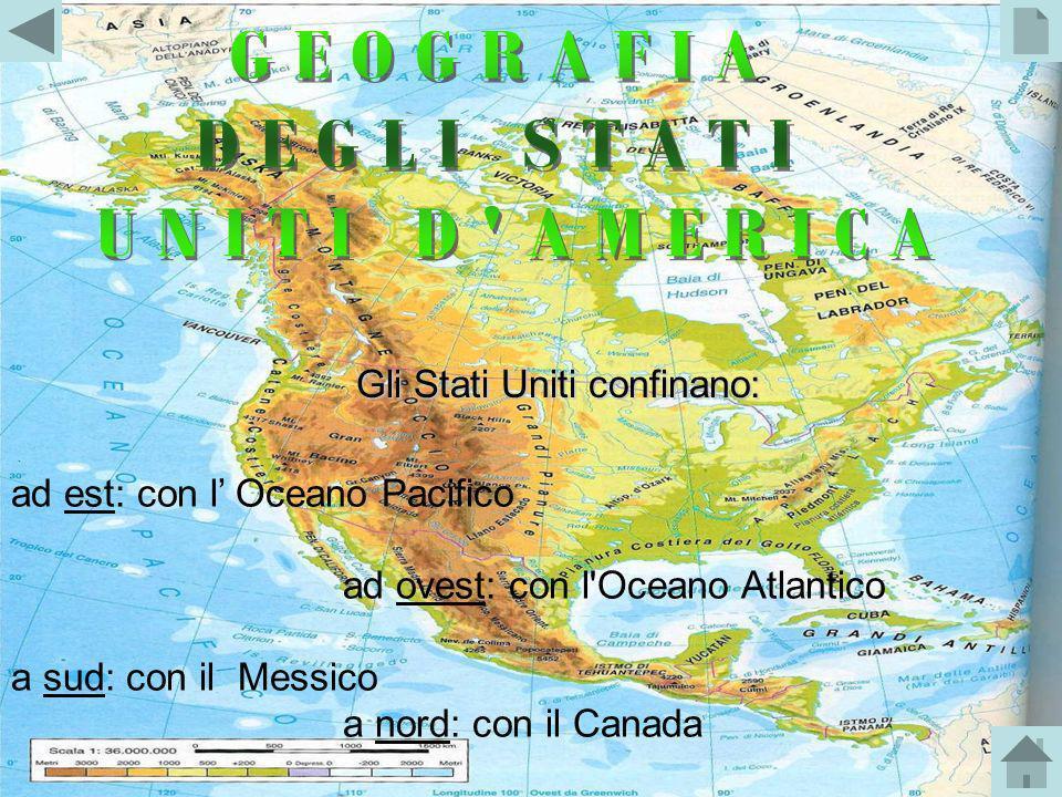 GEOGRAFIA DEGLI STATI UNITI D AMERICA