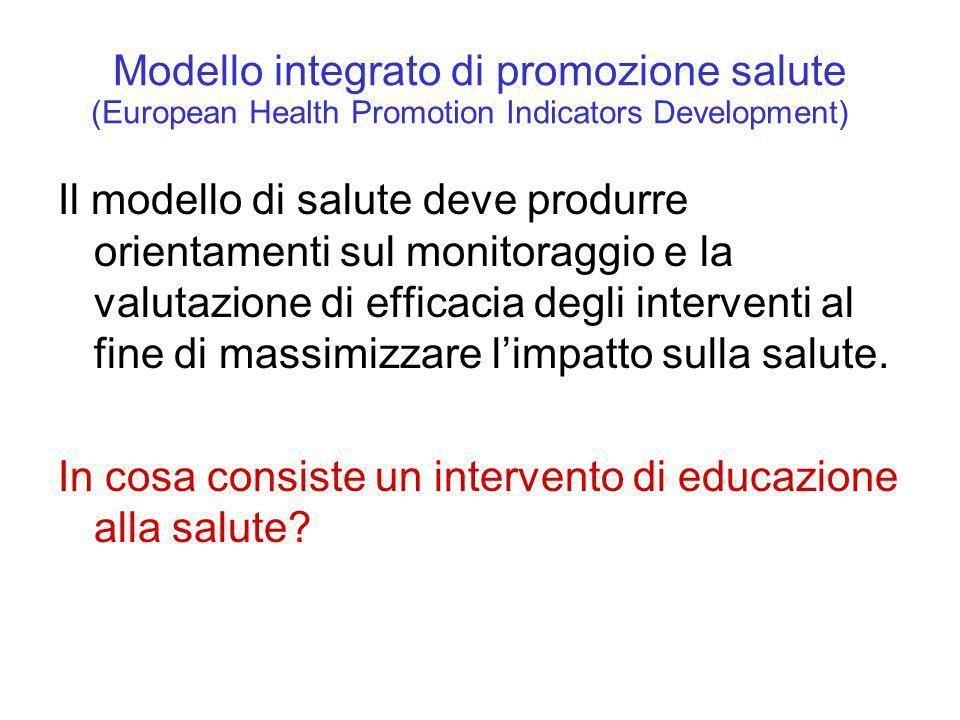 Modello integrato di promozione salute