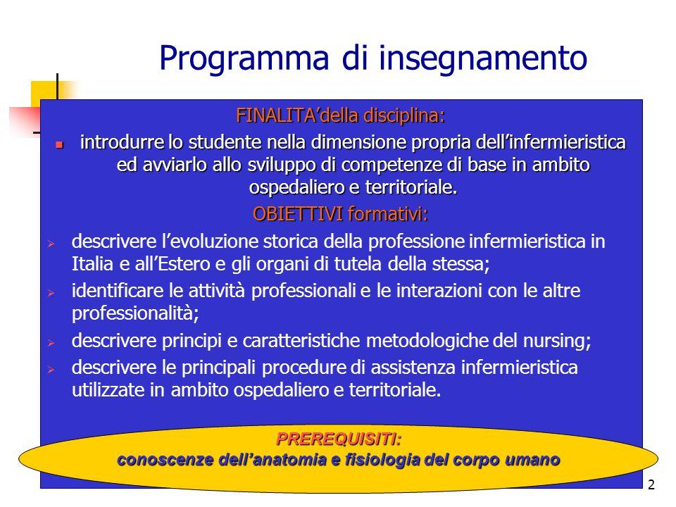 Programma di insegnamento