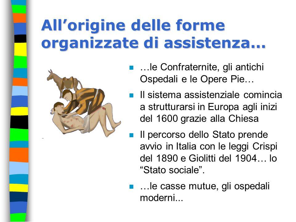 All'origine delle forme organizzate di assistenza...