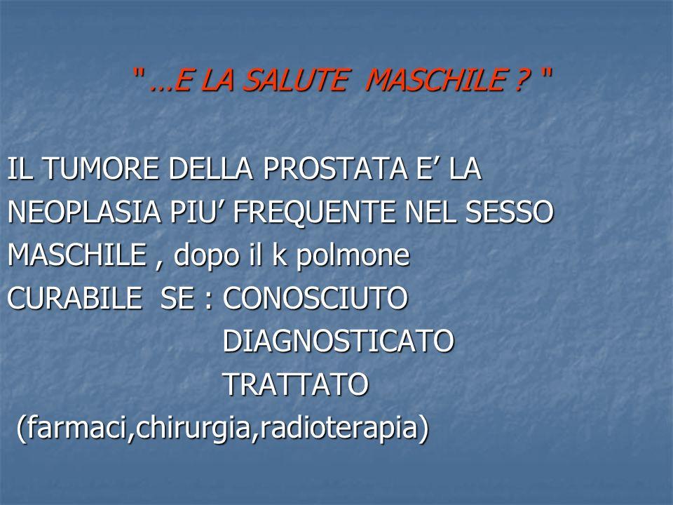 …E LA SALUTE MASCHILE