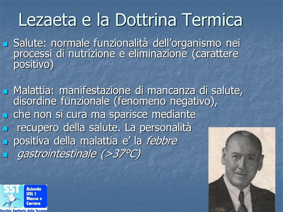 Lezaeta e la Dottrina Termica