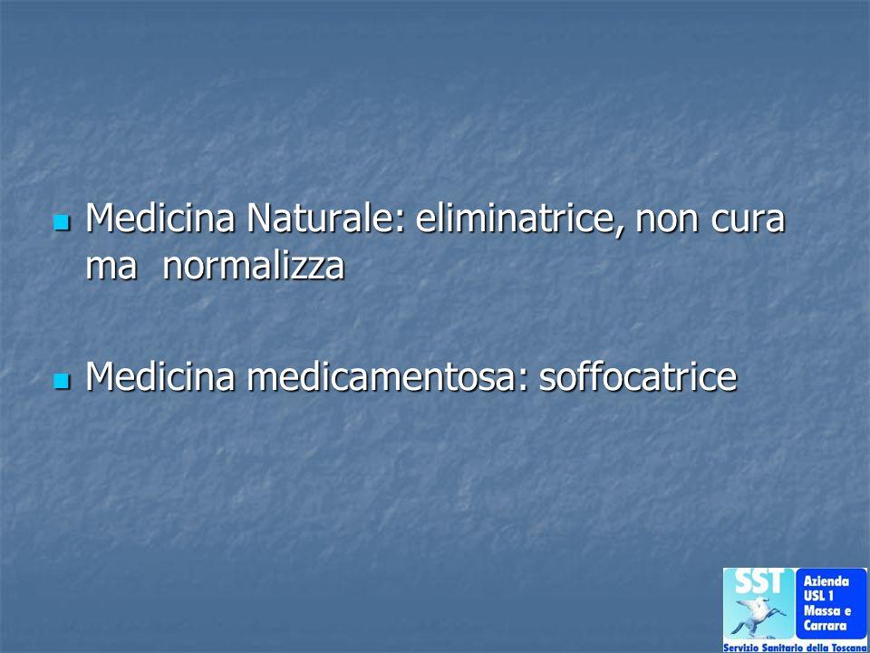 Medicina Naturale: eliminatrice, non cura ma normalizza