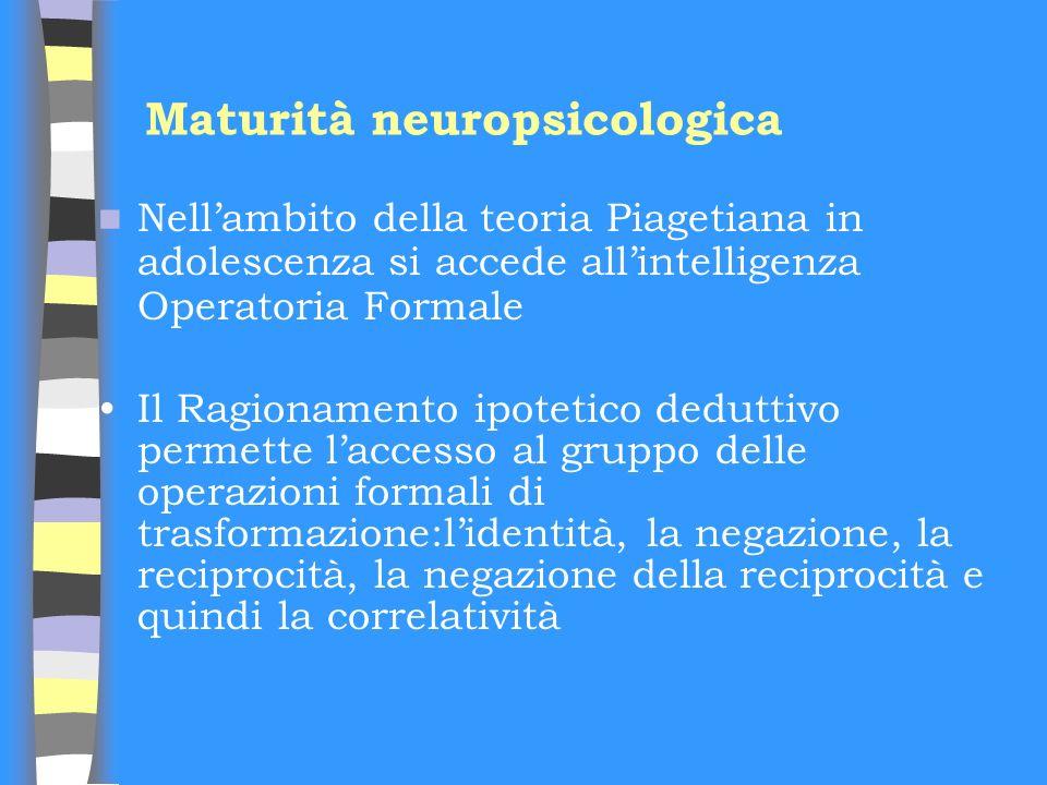 Maturità neuropsicologica
