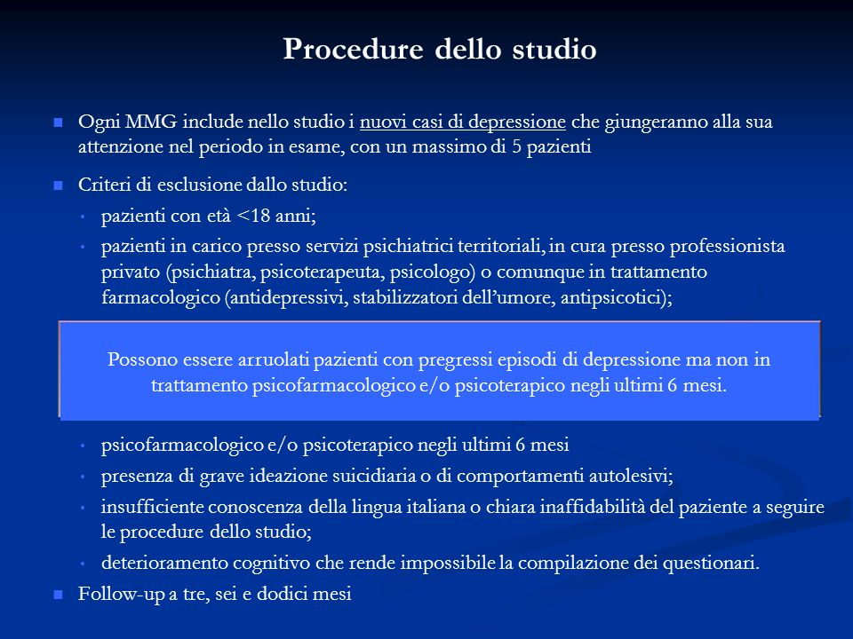 Procedure dello studio