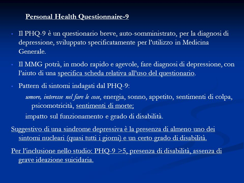 Personal Health Questionnaire-9