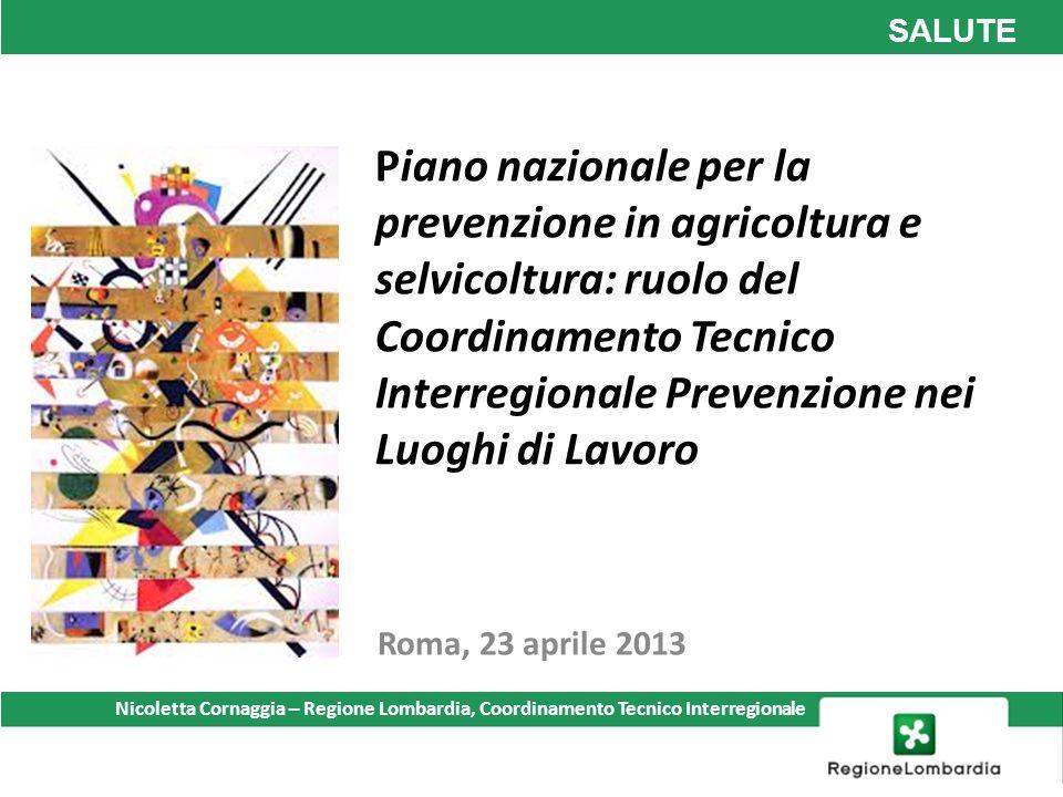 Piano nazionale per la prevenzione in agricoltura e selvicoltura: ruolo del Coordinamento Tecnico Interregionale Prevenzione nei Luoghi di Lavoro