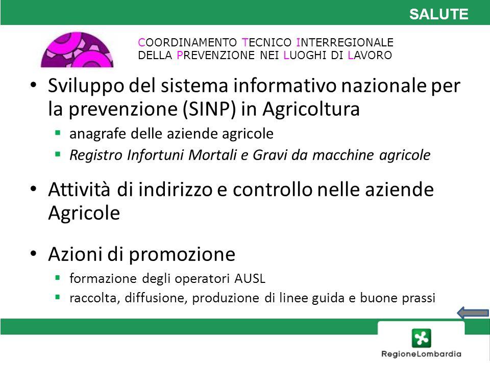 Attività di indirizzo e controllo nelle aziende Agricole