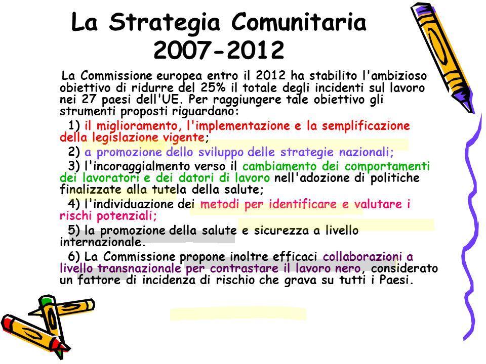 La Strategia Comunitaria 2007-2012