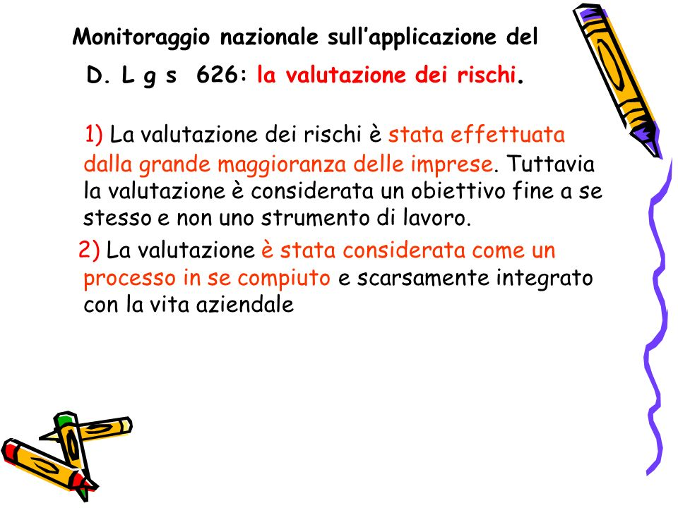 Monitoraggio nazionale sull'applicazione del D