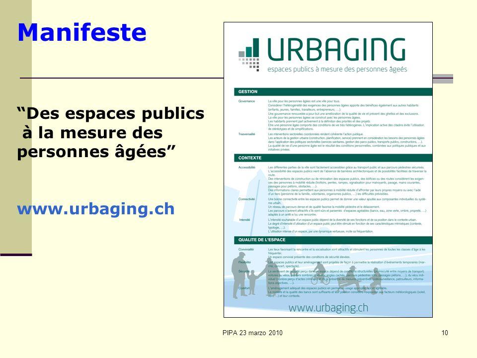 Manifeste Des espaces publics