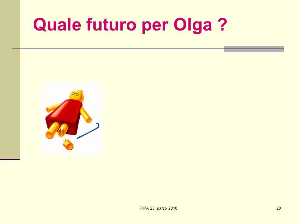 Quale futuro per Olga PIPA 23 marzo 2010 20