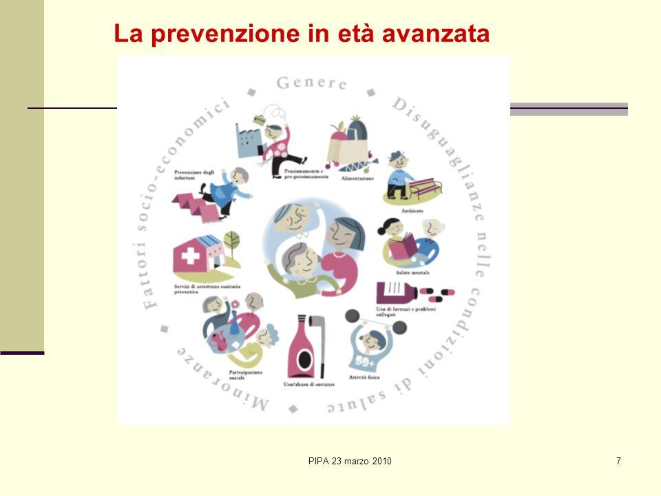 La prevenzione in età avanzata