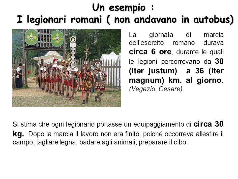 I legionari romani ( non andavano in autobus)