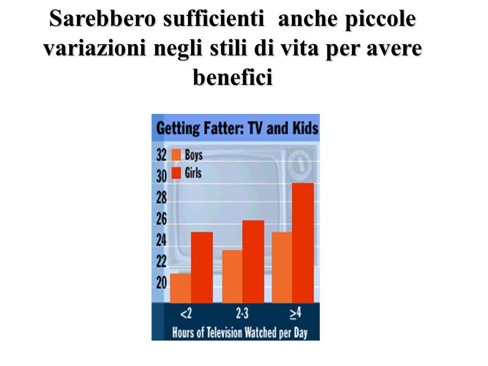 Sarebbero sufficienti anche piccole variazioni negli stili di vita per avere benefici