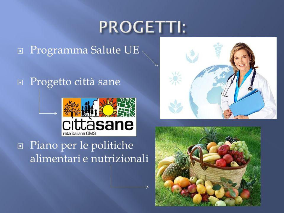 PROGETTI: Programma Salute UE Progetto città sane
