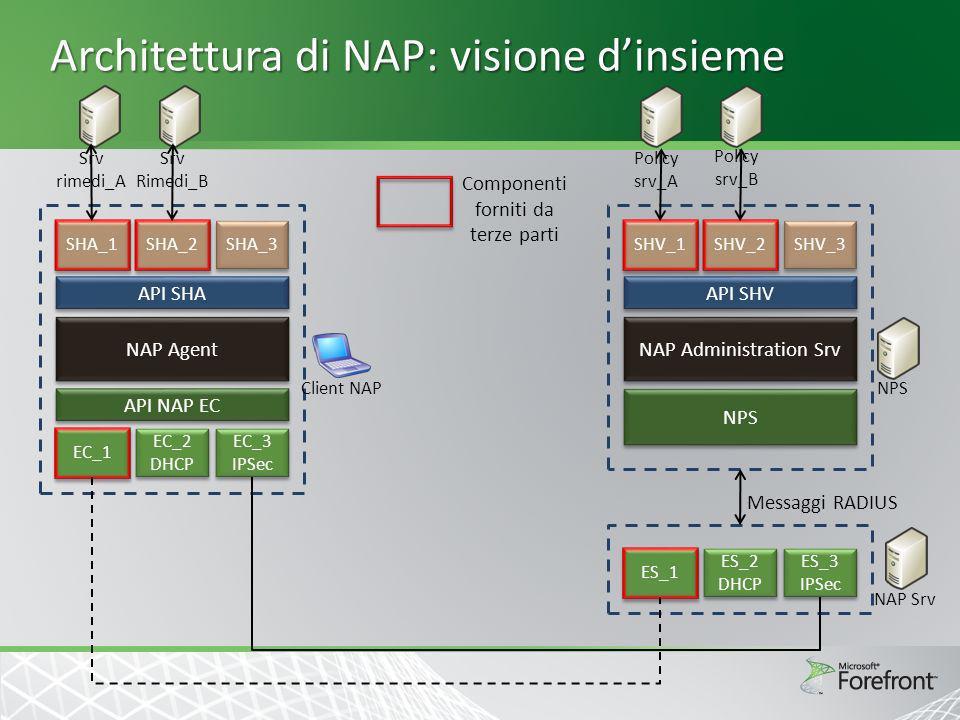 Architettura di NAP: visione d'insieme