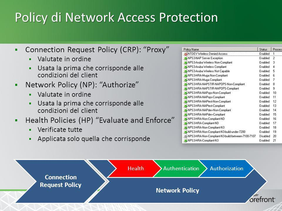Policy di Network Access Protection