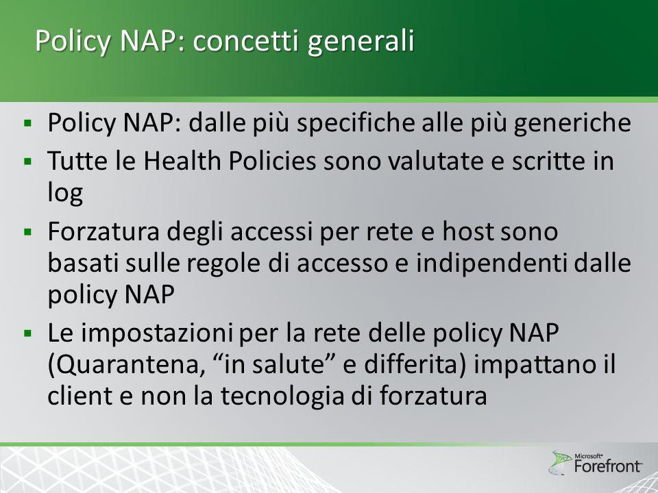 Policy NAP: concetti generali