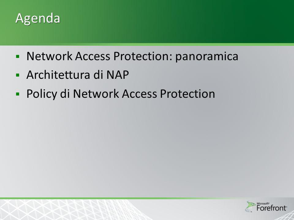 Agenda Network Access Protection: panoramica Architettura di NAP