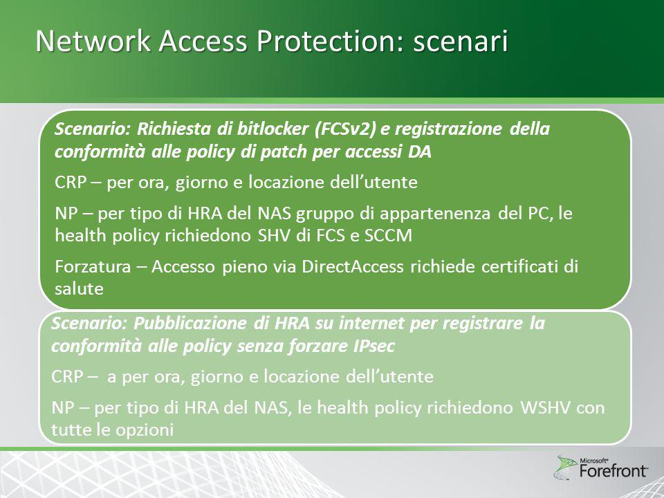 Network Access Protection: scenari
