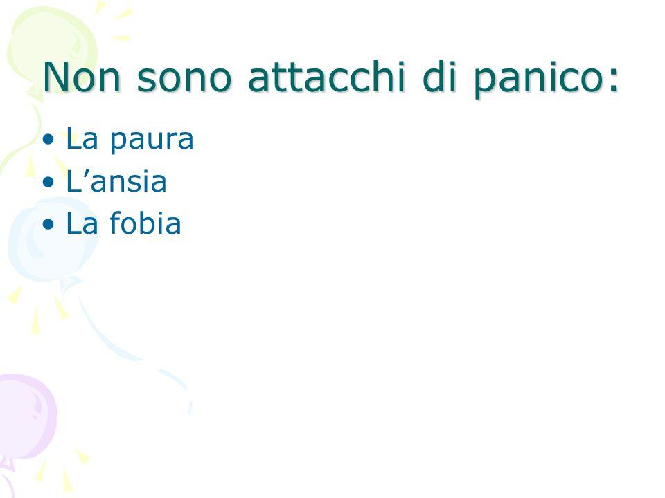 Non sono attacchi di panico: