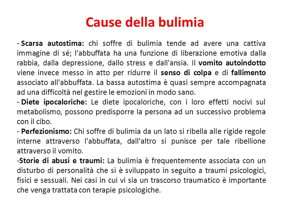 Cause della bulimia