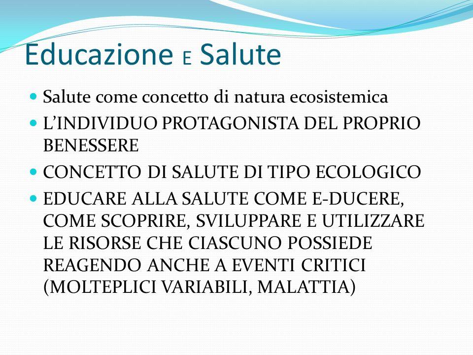 Educazione E Salute Salute come concetto di natura ecosistemica