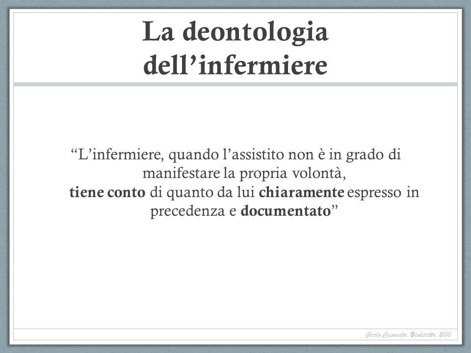 La deontologia dell'infermiere