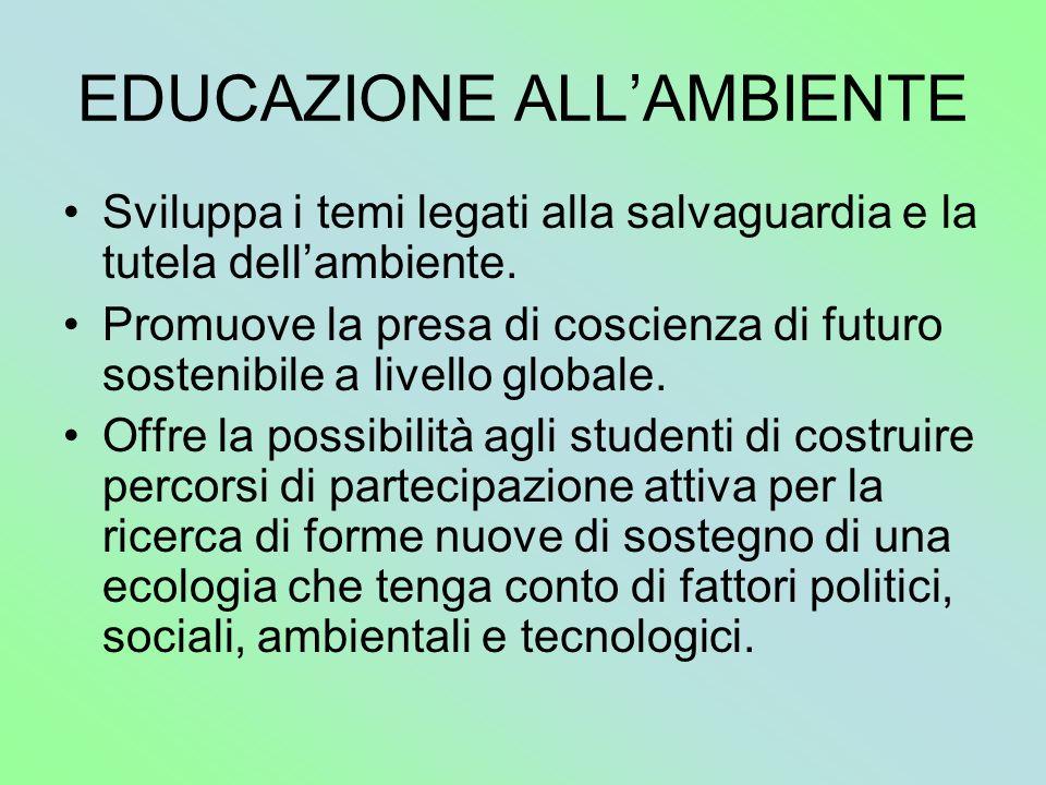 EDUCAZIONE ALL'AMBIENTE