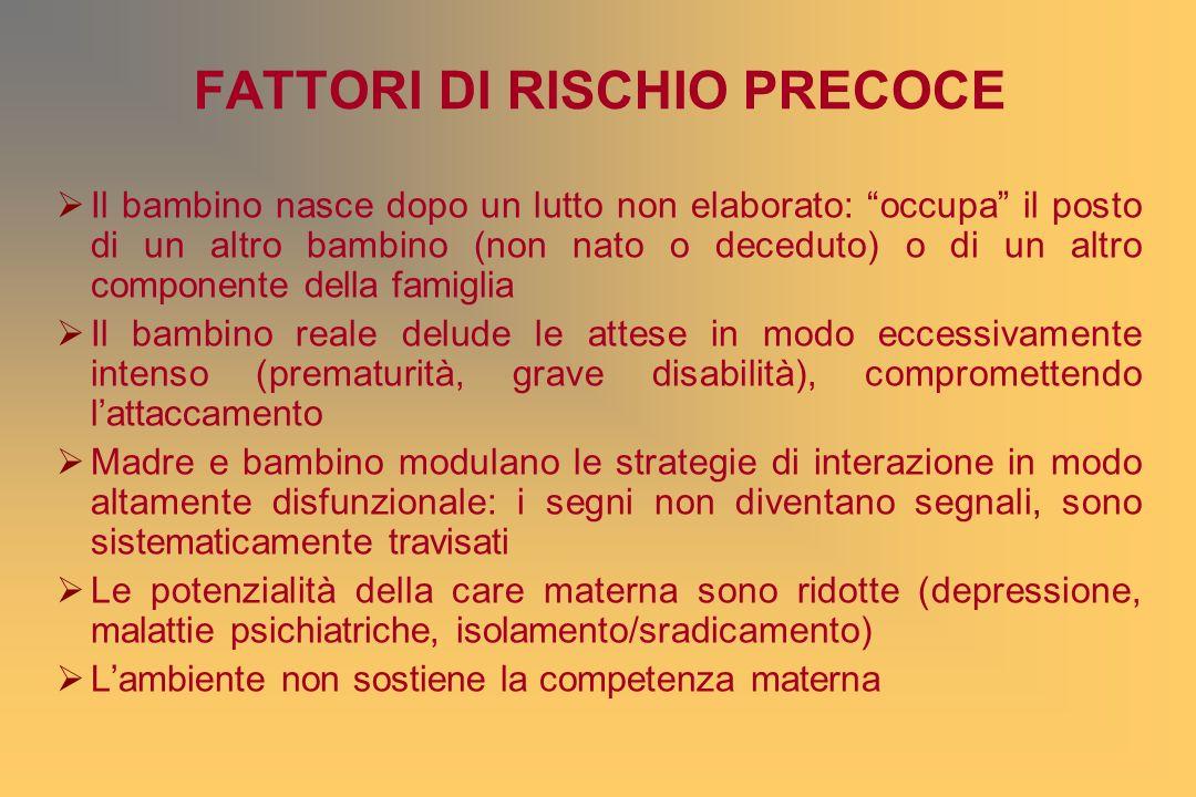 FATTORI DI RISCHIO PRECOCE
