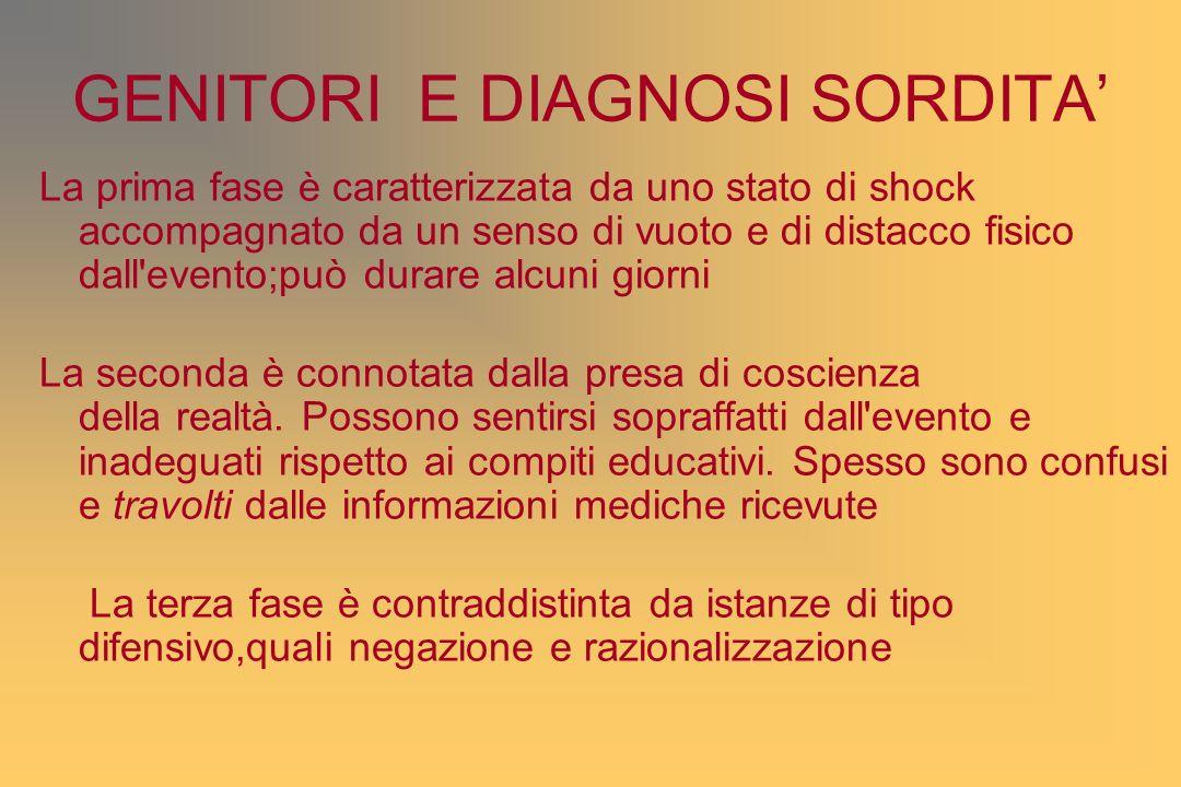 GENITORI E DIAGNOSI SORDITA'