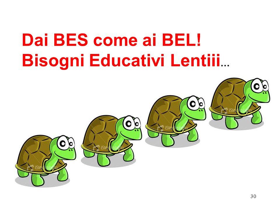 Dai BES come ai BEL! Bisogni Educativi Lentiii…