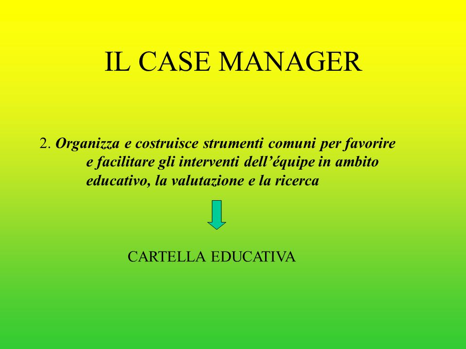 IL CASE MANAGER