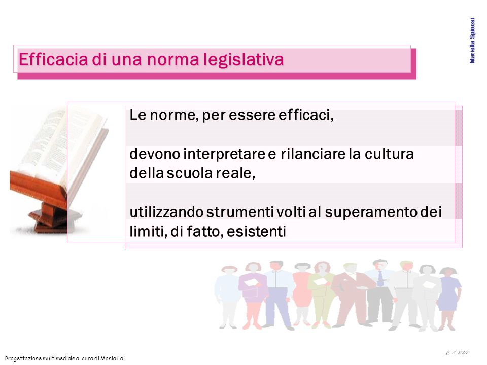 Efficacia di una norma legislativa