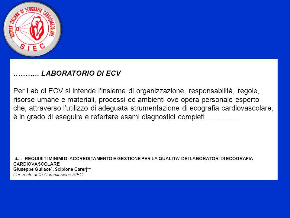 ……….. LABORATORIO DI ECV