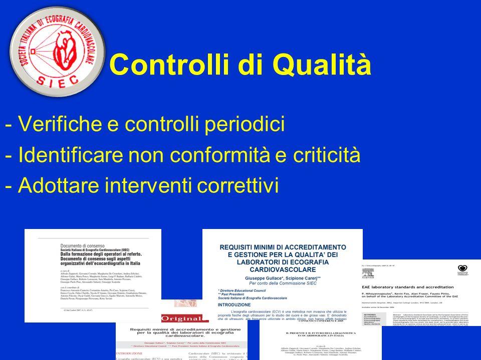 Controlli di Qualità - Verifiche e controlli periodici