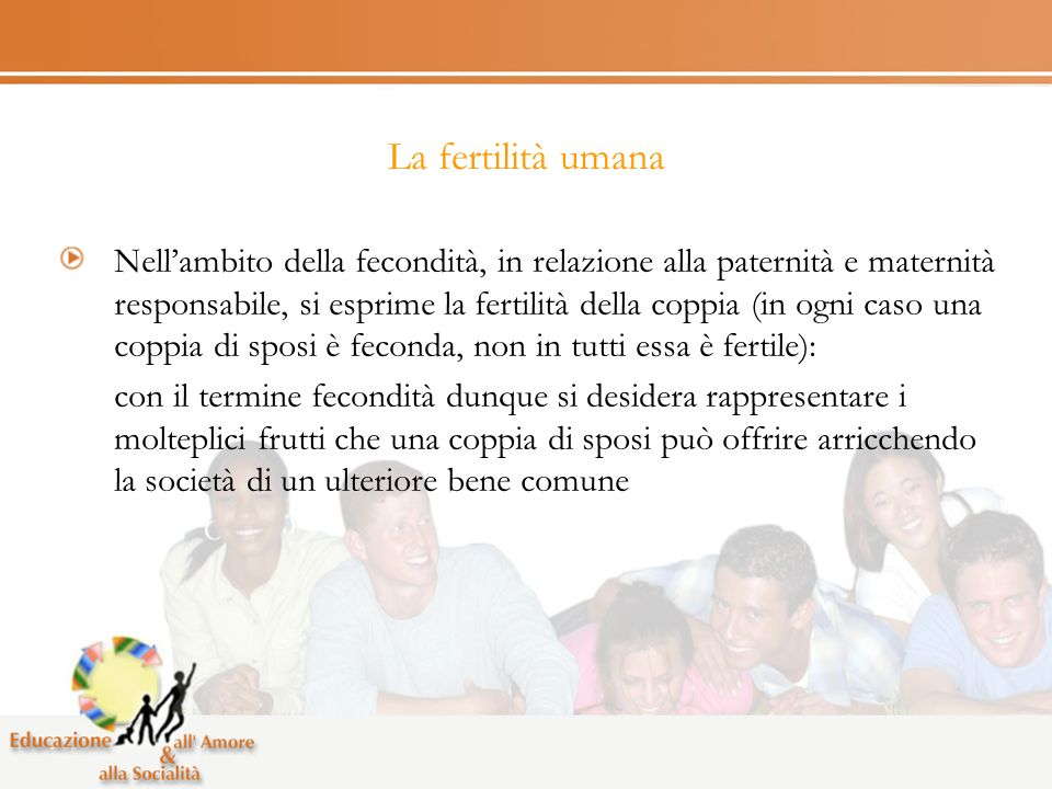 La fertilità umana