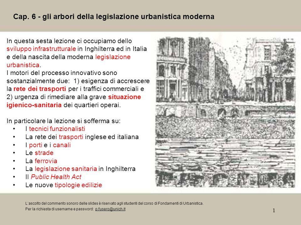 Cap. 6 - gli arbori della legislazione urbanistica moderna