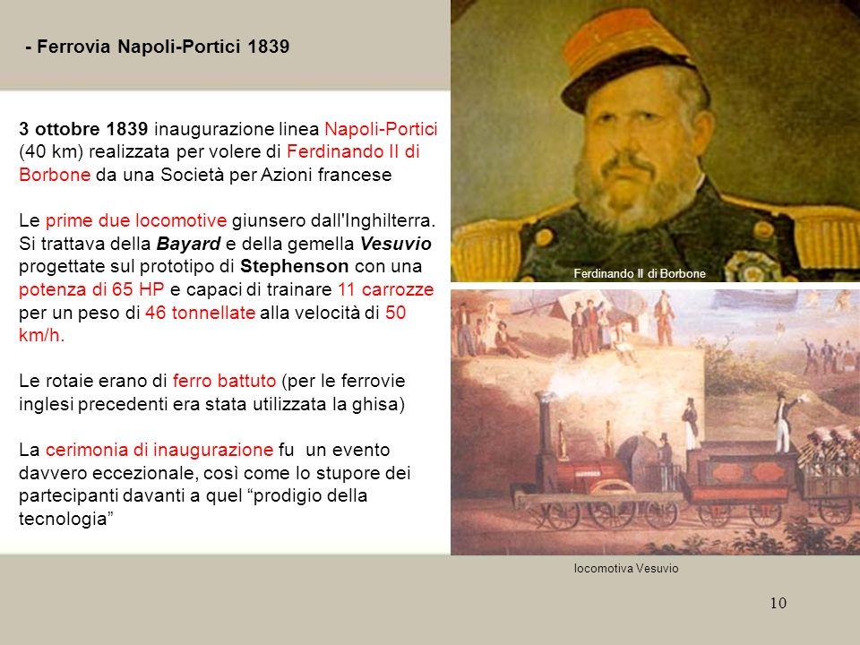 - Ferrovia Napoli-Portici 1839
