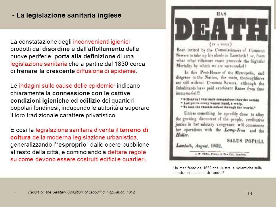 - La legislazione sanitaria inglese