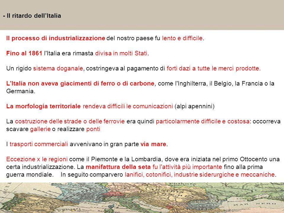 - Il ritardo dell'Italia