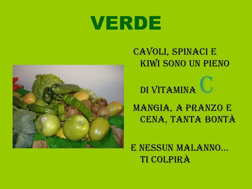 VERDE Cavoli, spinaci e kiwi sono un pieno di vitamina c