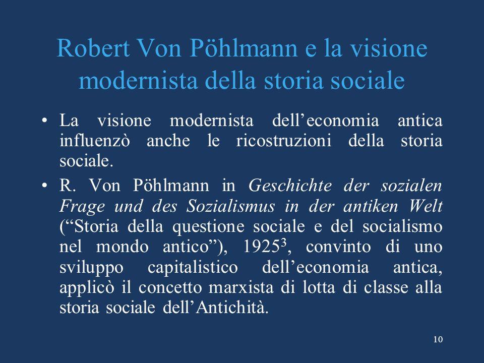Robert Von Pöhlmann e la visione modernista della storia sociale