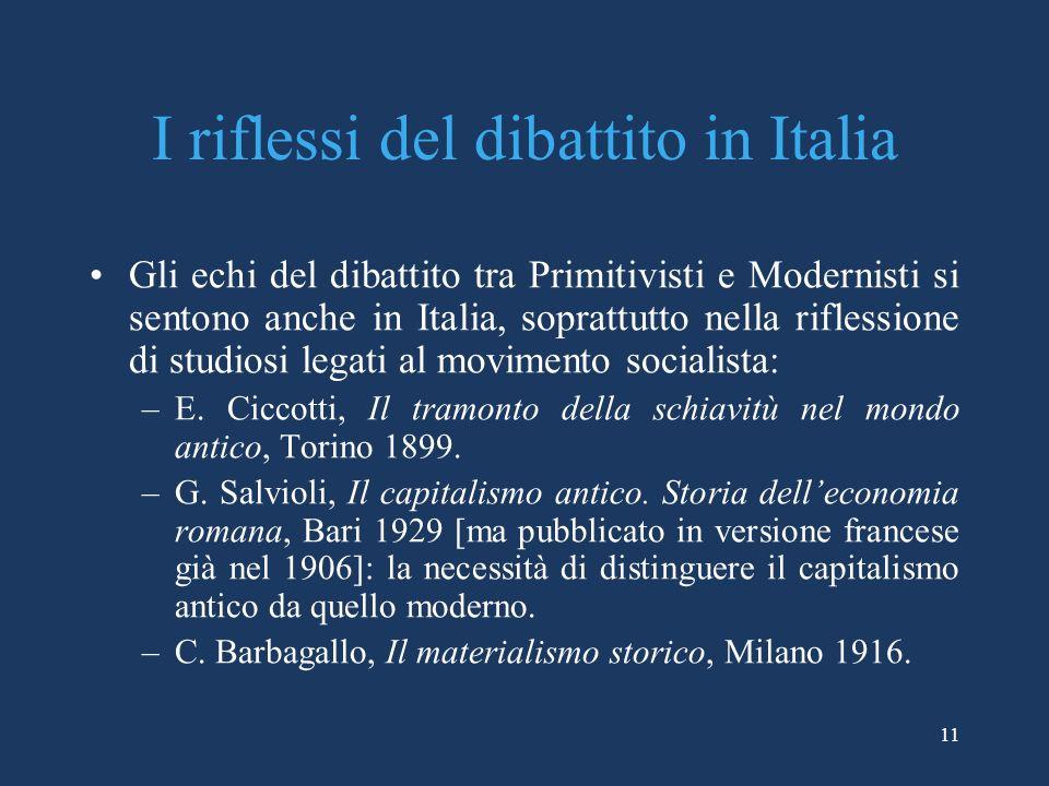 I riflessi del dibattito in Italia