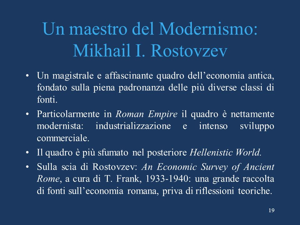 Un maestro del Modernismo: Mikhail I. Rostovzev