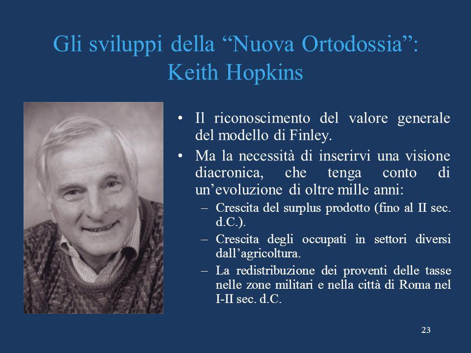 Gli sviluppi della Nuova Ortodossia : Keith Hopkins