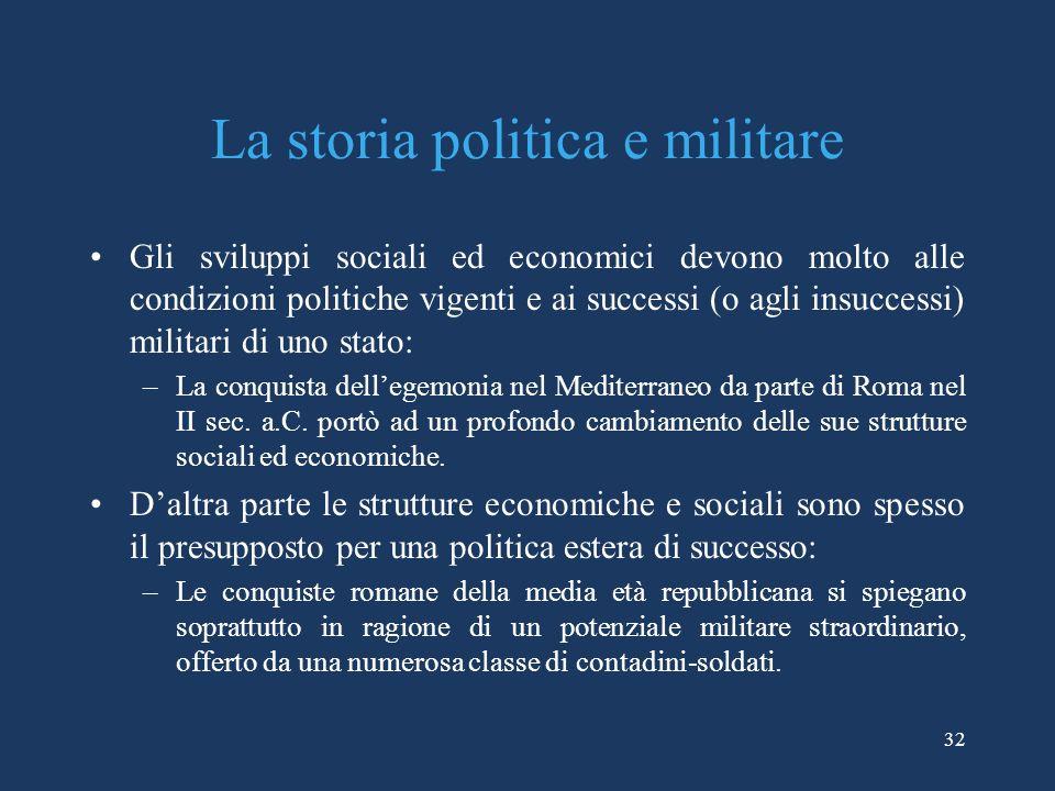 La storia politica e militare