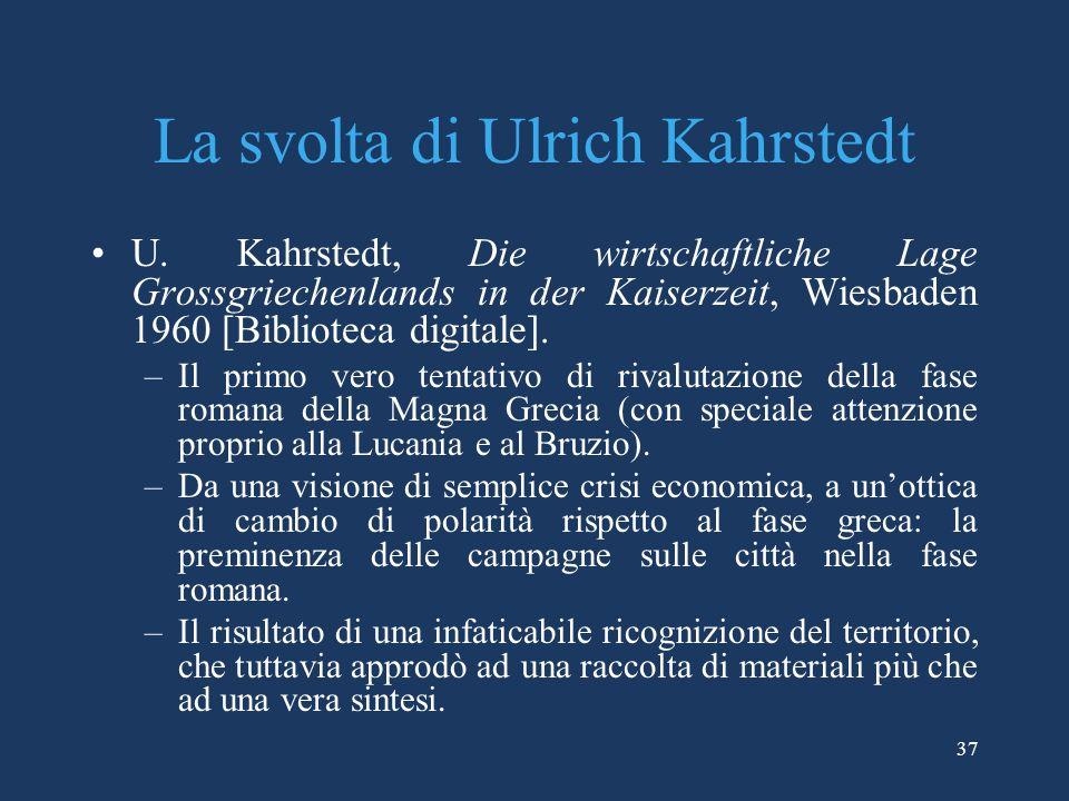 La svolta di Ulrich Kahrstedt